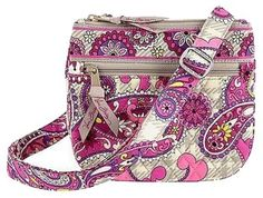 Vera Bradley Little Flap Hipster in Paisley Meets Plaid!