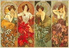 Alfons Maria Mucha (1860 – 1939), known in English as Alphonse Mucha, was a Czech  Art Nouveau painter and decorative artist, known best for his distinct style. He produced many paintings, illustrations, advertisements, postcards, and designs
