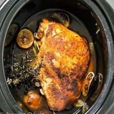 Slow Cooker Turkey Breast - perfectly moist and delicious. With this recipe you can have your favorite Thanksgiving meal any day of the week. It takes literally 5 minutes to prepare. I don't like turkey, but Ashley does, so I'm cooking this tonight :) Slow Cooker Turkey, Crock Pot Slow Cooker, Crock Pot Cooking, Slow Cooker Recipes, Cooking Recipes, Cooking Turkey, Crock Pot Turkey, Crockpot Turkey Breast Recipe, Turkey Breast In Crockpot Recipe