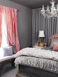 Grey Bedroom / Bedroom Curtains