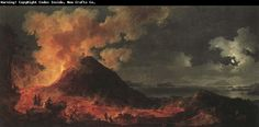 Pierre jacques volaire eruption of mount vesuvius oil painting image