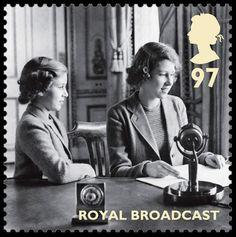 Royal Mail World War II Stamps - Royal broadcast stamp
