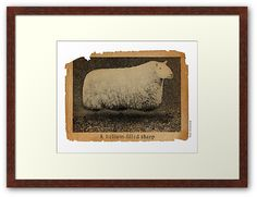 The Helium Filled Sheep walnut Framed Print - Wall art by Paul Stickland for on Redbubble Protective Packaging, Centerpiece Decorations, Custom Boxes, Online Gifts, Framed Art Prints, Sheep, Unique, Image