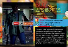Terminator Genisys Arnold T800 Cotton Jacket Available ON #Saleonleather Jacket #Store