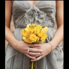 gray and yellow wedding.