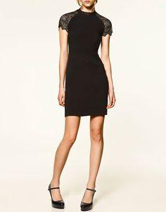 black dress tfr zara