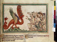 Adoration du dragon Maître de Sarum (13e siècle) COTE CLICHÉ13-570694N° D'INVENTAIREFRANCAIS 403 Folio 23