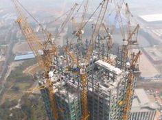 Chiński, 57-piętrowy wieżowiec, który zbudowano w 19 dni.