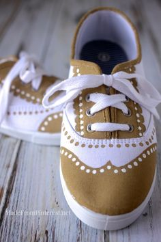 DIY Oxfords - This tutorial shows how to transform plain $5 sneakers into something special. So easy!