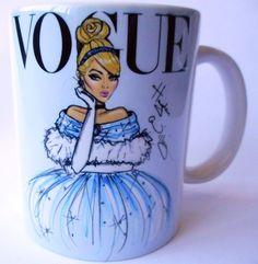 caneca porcelana princesas disney cinderela