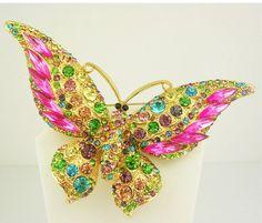 Joan Rivers Butterfly Brooch  Wide Winged  by SCLadyDiJewelry