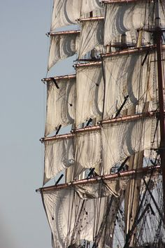 4 masted sailing ship ghosting along by Adam & Debbie @ Classic Sailing on Flickr.    Sedov!  The largest sail training vessel in the world.