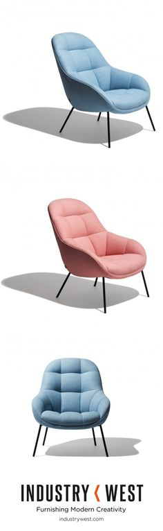 Apart of Industry West's new Frey Collection - a line that focuses on soft lines, muted pallets and is reminiscent of comfortable, hazy mornings- the Sunday Lounge Chair breathes contemporary life into a classic silhouette. The soft, rolling inside of the chair was inspired by a the mango fruit, cut in a square pattern flipped inside and out. A slice of fun in an elegant shell makes the Sunday Lounge Chair a versatile and very comfortable chair that suits all occasions and surroundings.