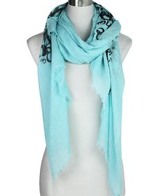 Loving this Mint & Black Love Letter Scarf - Plus on #zulily! #zulilyfinds