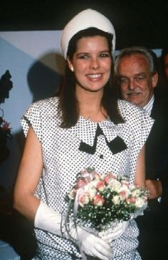 Carolina when she was pregnant with her daughter, Charlotte Casiraghi