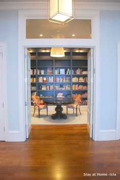 Oh to have enough room for a lovely library