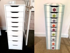 Different style and knobs, but totally doable and I already have the Alex Fleur De Force: My Customised Ikea Alex! Under Sink Organization Bathroom, Alex Drawer Organization, Best Closet Organization, Bedroom Organization Diy, Vanity Makeup Rooms, Diy Vanity, Ikea Alex Drawers, Tall Drawers, Ikea Storage