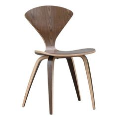 Add a sleek and trendy retro vibe with these contemporary wood dining chairs. This pair of chairs features an aesthetically pleasing curvy back and is crafted from solid walnut for long-lasting good looks and performance in your home.