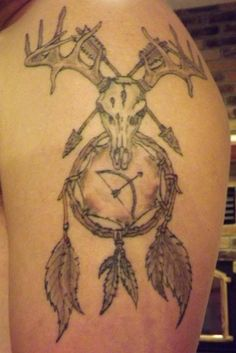 maybe just the top half Cute Tattoos, Unique Tattoos, Fish Tattoos, Tattoos For Guys, Tatoos, Movie Tattoos, Tribal Tattoos, Deer Hunting Tattoos, Deer Tattoo