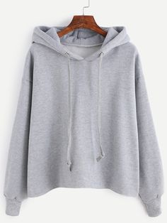 Shop Drawstring Hooded Sweatshirt online. SheIn offers Drawstring Hooded Sweatshirt & more to fit your fashionable needs.