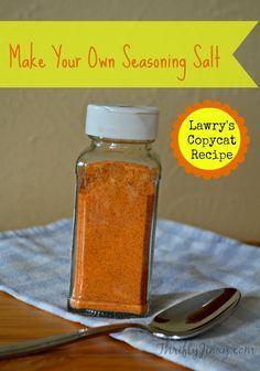 Make Your Own Seasoning Salt - Lawry's Copycat Recipe - Thrifty Jinxy