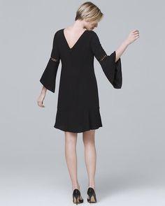 728c29db9984 Pins for Cindy · Women's Bell-Sleeve Black Shift Dress by White House Black  Market Black White Fashion,