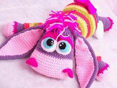 Crochet toy Amigurumi Pattern Sweet Purple Donkey. by LilikSha, $8.00