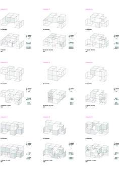 Revolutionary House. 2013 Private Client - inaquicarnicero.com Typology Architecture, Cubic Architecture, Architecture Concept Diagram, Concept Architecture, Architecture Program, Modular Housing, Social Housing, Co Working, Urban Planning