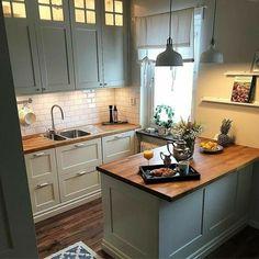 Kitchen Room Design, Home Decor Kitchen, Kitchen Interior, New Kitchen, Home Interior Design, Home Kitchens, Kitchen Small, Very Small Kitchen Design, Island Kitchen