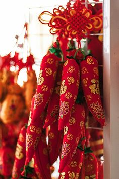 Stuffed fabric red chili pepper ristra | Flickr - Photo Sharing!