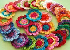 Imagen de colour, crochet, and flowers