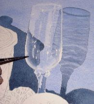 glass in watercolor