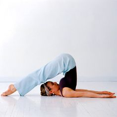 Love this pose:   Plow Pose (Halasana): Plow Pose is considered therapeutic for sinusitis, but this pose might feel uncomfortable if your back or hamstrings are really tight. If so, you can always bend your knees and place them next to your ears as a variation.     What to Do: Either fall back into Plow Pose from shoulder stand, or roll on your back and swing your legs over your head to come into Plow. Stay in the pose and breathe for one minute.