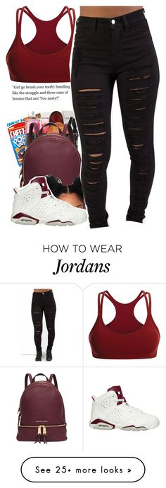 """Untitled #109"" by daijahhill25 on Polyvore featuring Michael Kors, Black Diamond and NIKE"