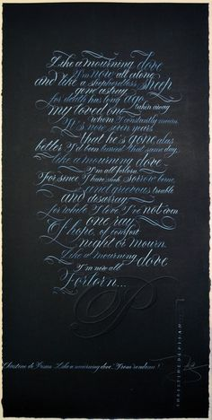 I've just got back the calligraphy works done for the National Diploma in Calligraphy and here they are for you :)                         ...