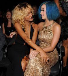 Rihanna with Katy Perry