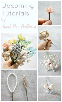 Upcoming Brooch Bouquet Fillers Tutorial | Jewel Box Ballerina Flower Patterns and Tutorials