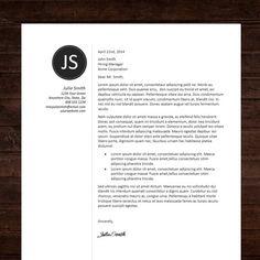 Cv Design  Cover Letter Instant Download Printable Resume