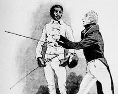 The Greatest African American and Afro-American Martial Artists in History Pictured is Jean Louis and his fencing master, M. D'Erape. From L'Almanach Des Sports, 1899.