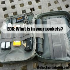 A good EDC Kit is light enough that you will have it with you but capable enough that it will be of some use. Remember an EDC Kit isn't a Bug Out Bag or a Get Home Bag, it's main mission in life is to make your life easier! // via: www.thebackyardpioneer.com //