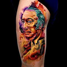 Tatuagem colorida: Joga mais cor que está pouco! - Blog Tattoo2me Portrait, Tattoos, Blog, First Tattoo, Color Tattoo, Colourful Art, Get A Tattoo, Colors, Artists