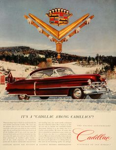 1952 Ad Cadillac Motor Car Division GM Automobile