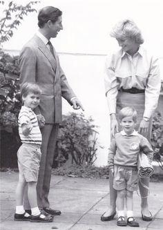 Princess Diana, Prince Charles, William and Harry