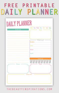Tagesplaner zum kostenlosen Download - für alle Filofaxer, Paper-Girls und die, die einfach organisierter leben wollen.