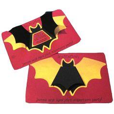 Batman party invitations - The Supermums Craft Fair