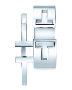 Tiffany T square bracelet and cutout cuff in sterling silver. #TiffanyPinterest #TiffanyT