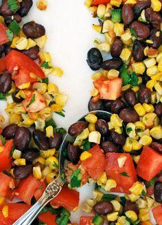 Oven Roasted Corn and Black Bean Pico de Gallo