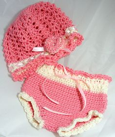 Baby hat and diaper cover set  2tone spring baby by hamburke, $55.00