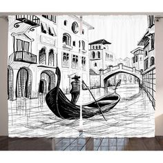 Drawings Ideas East Urban Home Sketchy Gondola in Venice European Famous Canal History Mediterranean Holiday ImageGraphic Print Pencil Art Drawings, Drawing Sketches, City Drawing, Drawing Drawing, Gondola Venice, Venice Canals, Venice Beach, Perspective Art, Perspective Drawing Lessons