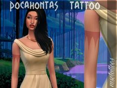 Pocahontas' arm tattoo: For females only.  Found in TSR Category 'Sims 4 Accessories Sets'